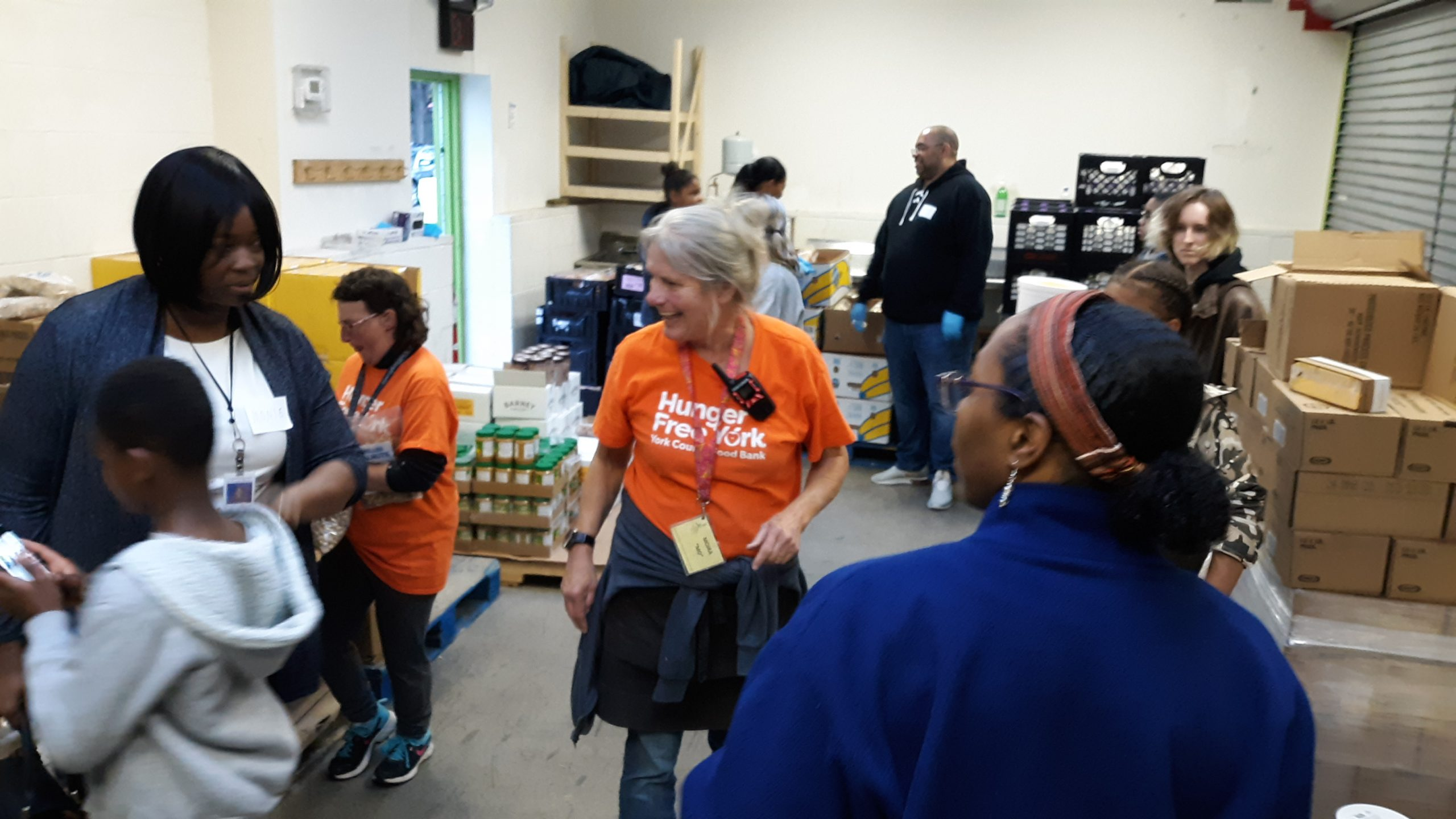 Volunteering at the York County Food Bank