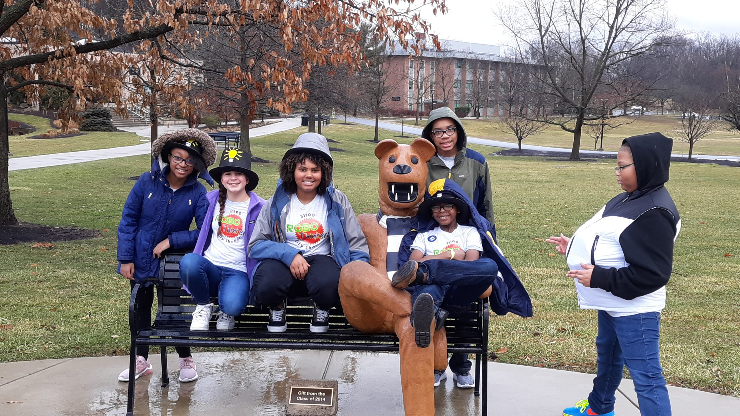 Posing with the Nittany Lion